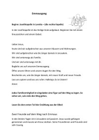 Handzettel Emmausgang