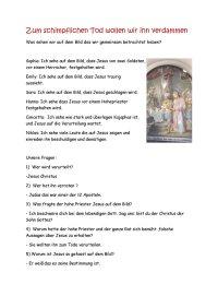 2. Station: Die Verurteilung Jesu durch den Hohepriester