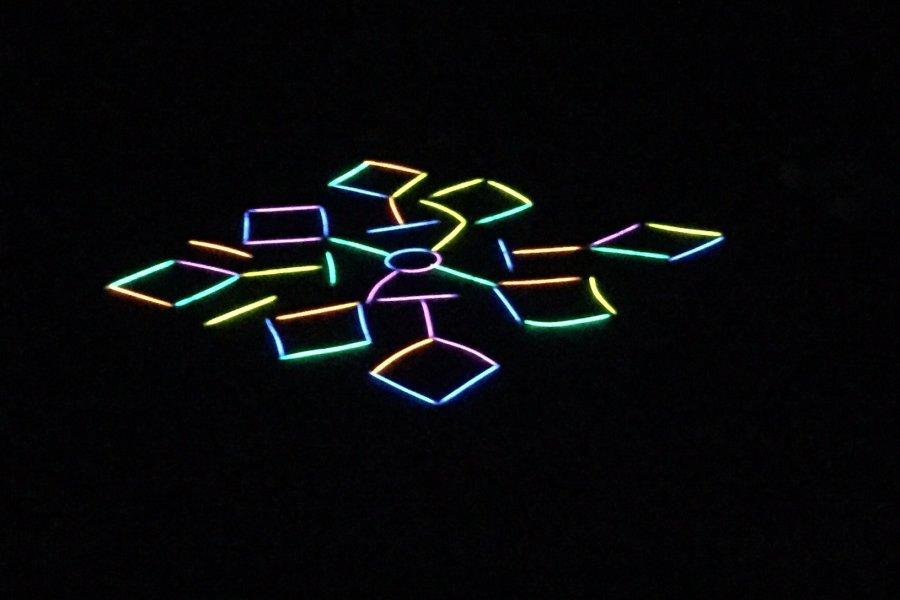 leuchtendes Mandala