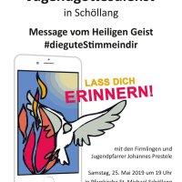 Plakat Jugendgottesdienst Schöllang Neuneu