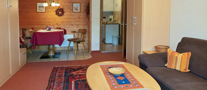 Wohn-/Ess- und Schlafbereich Ferienwohnung Robert
