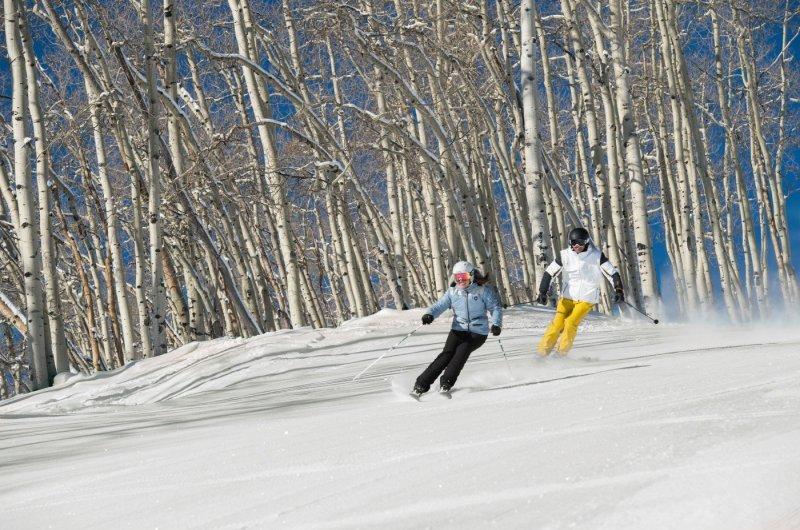 Vail - Skifahrer im Wald