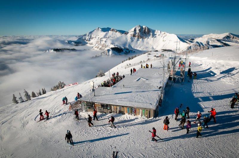 Jackson Hole - Skihütte von Oben