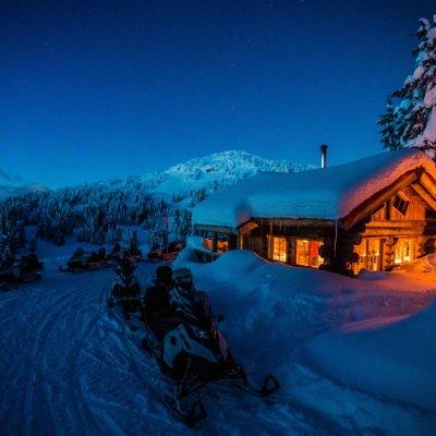 Schneemobiltour in Whistler