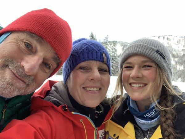 Winni, Rita, Juliana auf Skitour