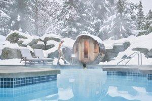 Pool mit Sauna