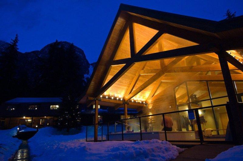 Spa Building at Night