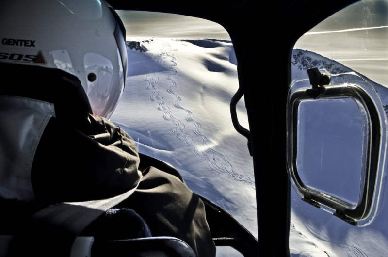 Your Ride Back Up. Big Mountain, Bella Coola Heli Sports