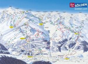 Übersicht Skigebiet Sölden