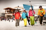 Skigruppe am Roundhouse