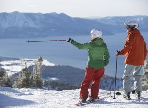 2 Skifahrer