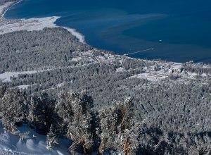 Lake Tahoe und Tiefschnee