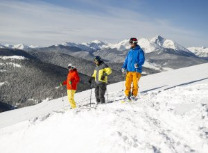 3 Skifahrer