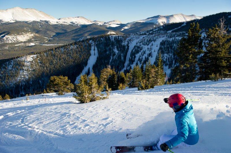 Vail Skifahrer