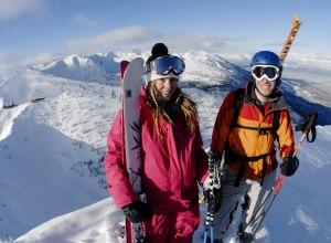 Skifahrer in Kicking Horse