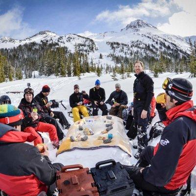 Mittagessen in den Bergen