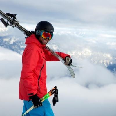 Skier in Whistler