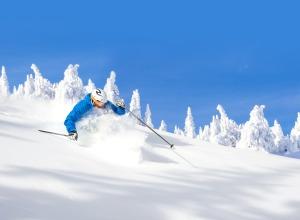 Skiing in Big White