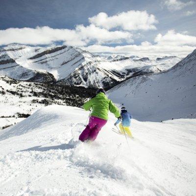 Skifahren in Banff