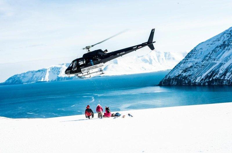 Heli-Skiing am Atlantik