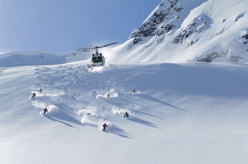 Heli-Skiing in Panorama