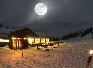 A-Basin Lodge bei Nacht