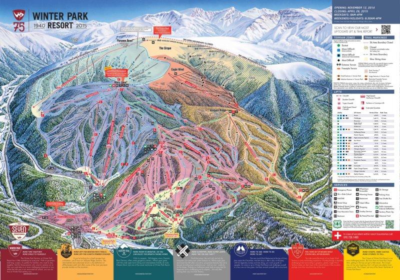 Winter Park Pistenplan