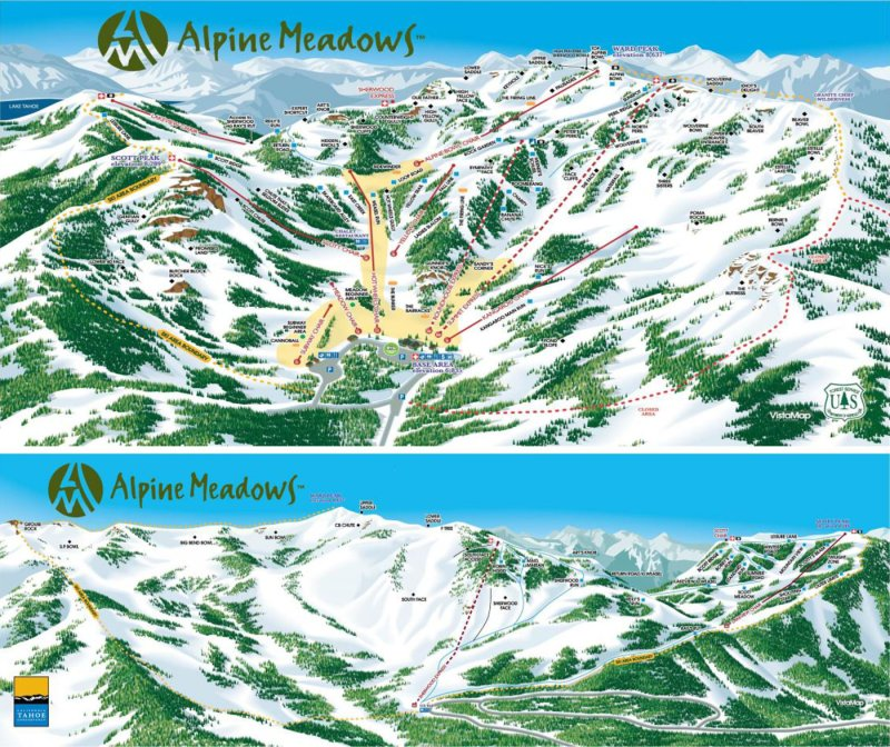 Pistenplan Alpine Meadows
