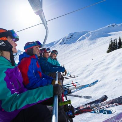 Skigruppe in Whistler