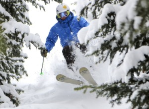 Powder Skier Deer Valley Resort