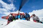 Gruppe bei Tyax Heli-Skiing