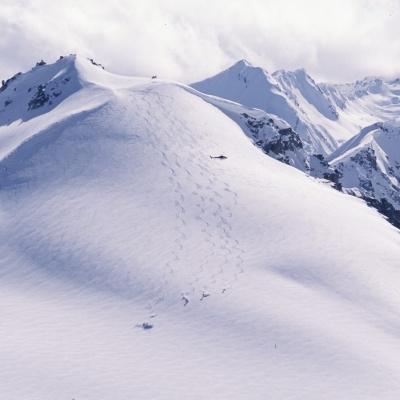 Abfahrten bei Tyax Heli-Skiing