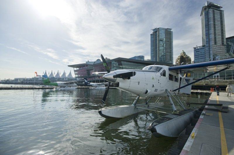 Wasserflugzeug im Hafen von Vancouver