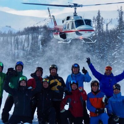 Group with Bell 212 Above - Jeff MacPherson