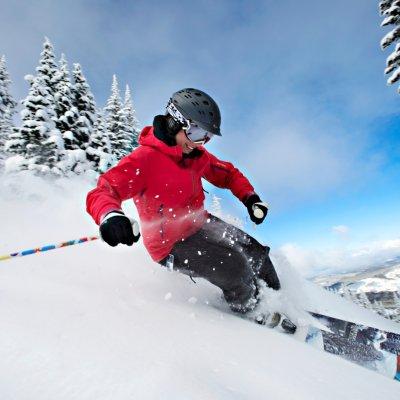 Skifahren in Sun Peaks