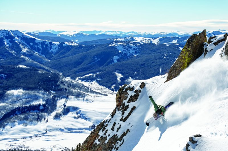 Snowboarder Crested Butte