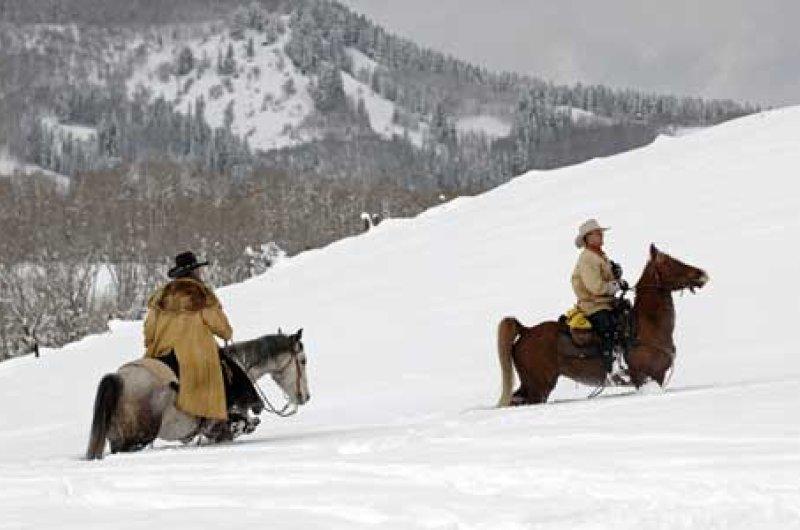 Cowboys im Schnee