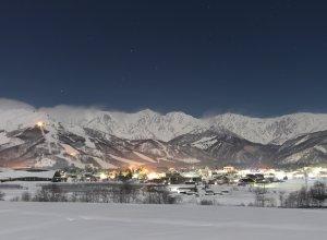 Hakuba bei Nacht