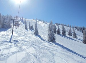 Lift und Piste in Steamboat