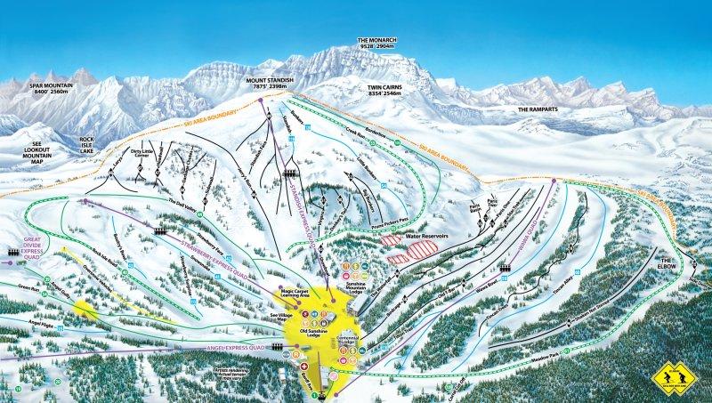 Banff Sunshine Pistenplan
