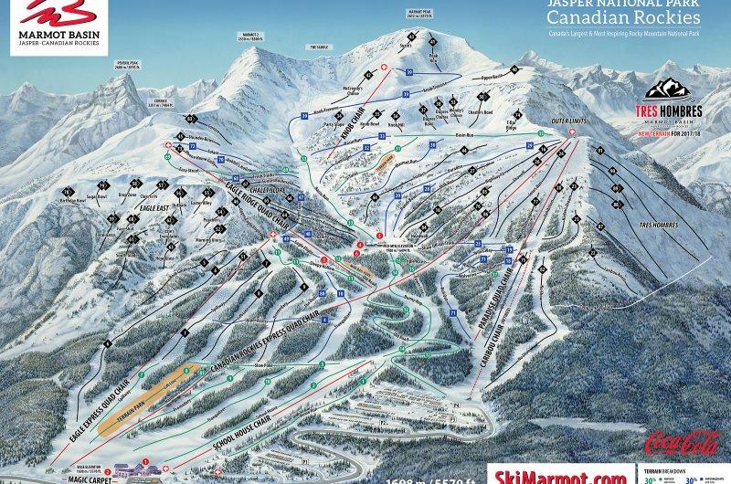 Marmot Basin Trail Map