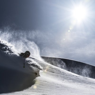 Powdern bei Tyax Heli-Skiing