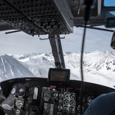 Blick aus dem Cockpit