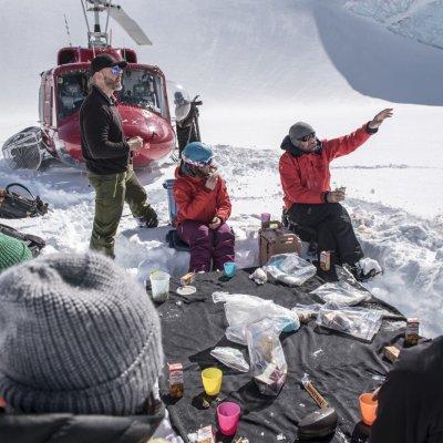 Mittagspause Tyax Heli-Skiing