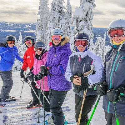 Gruppe in Big White