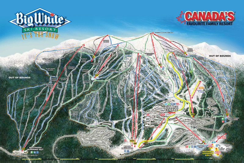 Trail Map Big White
