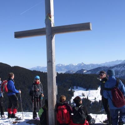 Gruppe am Gipfelkreuz