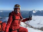 Heli-Skiing mit Blick auf den Pazifik