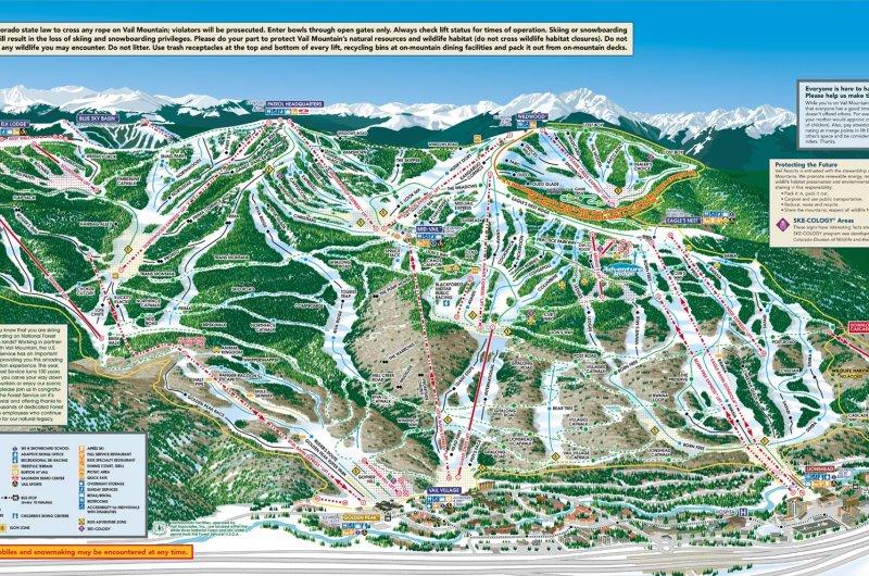 Karte: Vail Mountain (Vorderseite)