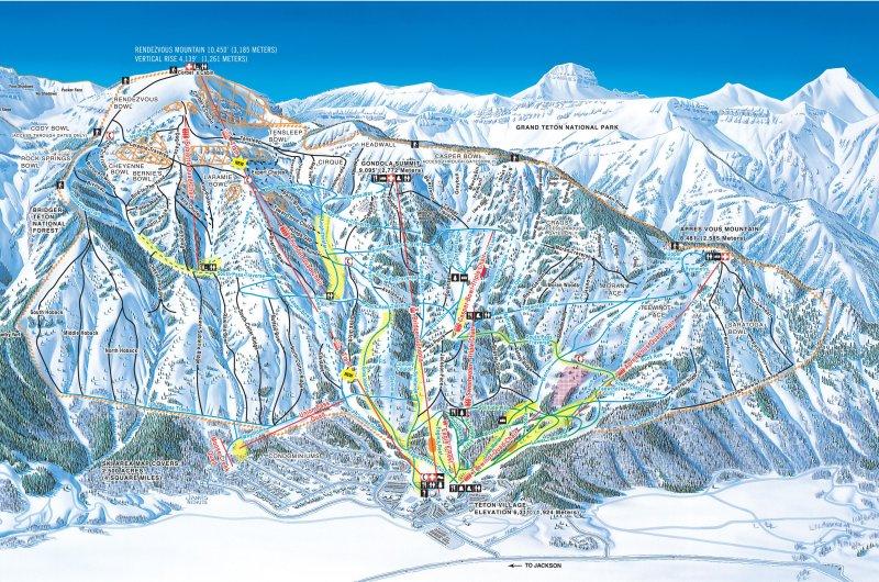 Karte: Jackson Hole Mountain Resort